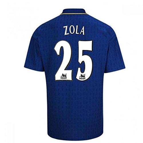 優先権電気の刻む1997-98 Chelsea Fa Cup Final Shirt (Zola 25)