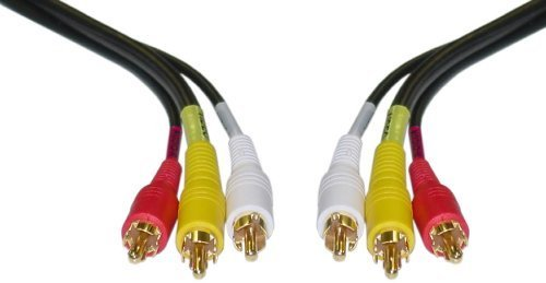 25ft 2 RCA (Audio) + 1 RCA RG59 Video Male to Male Cable - Gold Plated