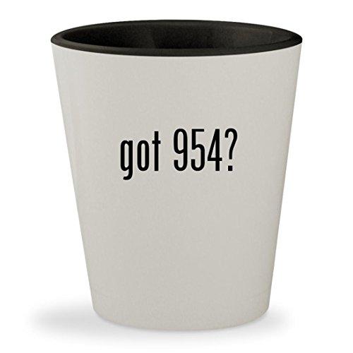 got 954? - White Outer & Black Inner Ceramic 1.5oz Shot - 2140 954 Rb