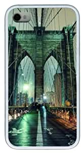 Apple iPhone 4 4s Case,iPhone 4 4s Cases - Brooklyn Bridge TPU Custom iPhone 4 4s Case Cover for iPhone 4 4s -...