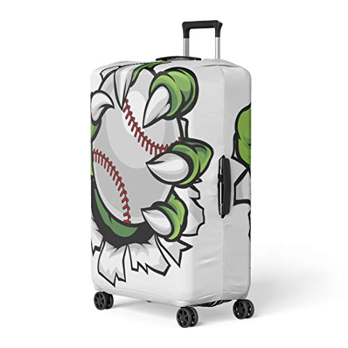 Pinbeam Luggage Cover Monster Animal Claw Holding Baseball Ball and Breaking Travel Suitcase Cover Protector Baggage Case Fits 22-24 inches