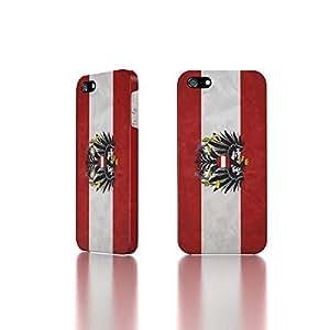 Apple iPhone 5 / 5S Case - The Best 3D Full Wrap iPhone Case - Austria Flags