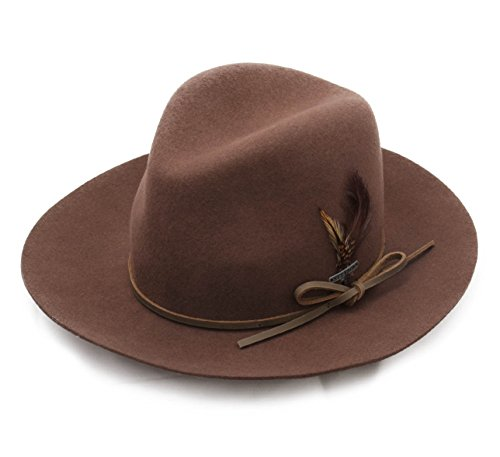 Stetson Women's Ladies Vitafelt Wool Felt Fedora Hat Size S Brown-65 by Stetson