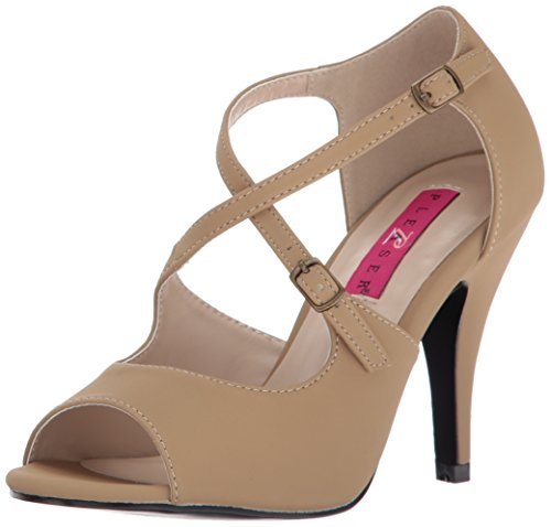 Pleaser Pink Label Women Dre412/Tpnb Dress Sandal Taupe Nubuck