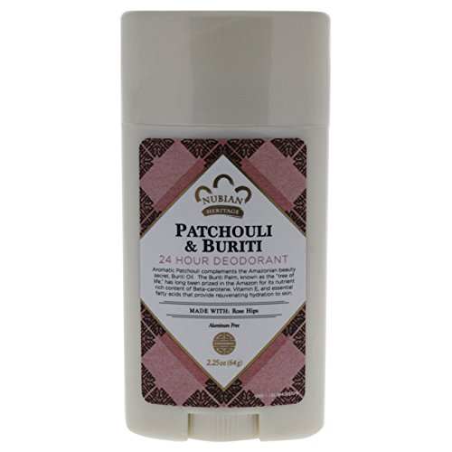 Nubian Heritage Patchouli & Buriti 24 Hour Deodorant Stick, 2.25 Ounce - Patchouli Deodorant Stick