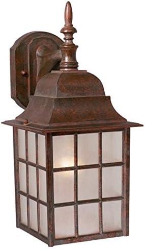 Vaxcel OW36763RBZ USA Vista 1 Light Mission Outdoor Wall Lamp Lighting Fixture in Bronze, Glass, 6 x 14.5 x 6