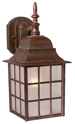 Vaxcel OW36763RBZ USA Vista 1 Light Mission Outdoor Wall Lamp Lighting Fixture in Bronze, Glass, 6'' x 14.5'' x 6''