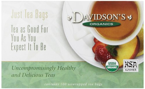 Davidson's Tea Lemon Ginseng Green, 100-Count Tea Bags