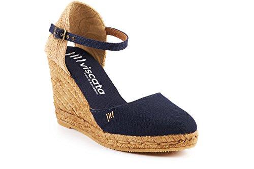 Toe 7 Satuna In Blue Espadrilles nbsp;cm Viscata Closed Made Spain Heel Navy Cuneo strap Classic 6 Ankle Bq85Oxw