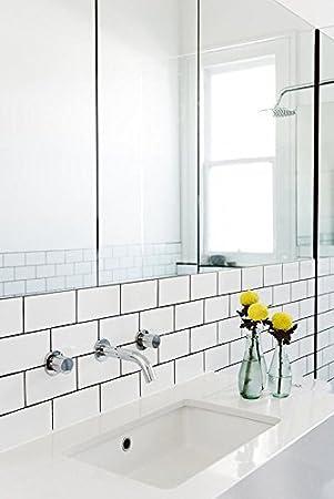 Fliesen Muster, New York, Glänzend, Weiß, Metro, 10 X 20
