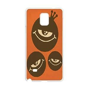 Naza Eye Samsung Galaxy Note 4 Case Three Eyes for Guys Design, Samsung Galaxy Note4 Case for Women for Guys Design [White]