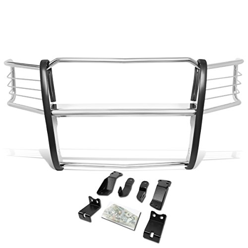 Headlight Brush Guard - DNA MOTORING GRILL-G-073-SS Front Bumper Headlight/Grille Brush Guard [for 14-18 Chevy Silverado 1500]