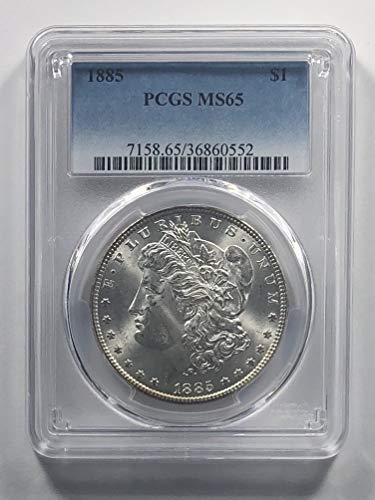 1885 P Morgan Silver Dollar $1 MS-65 PCGS