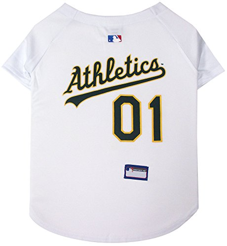 Pets First MLB Oakland Athletics Dog Jersey, Small