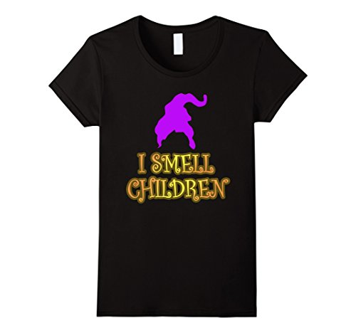 Womens I Smell Children Halloween T-shirt XL Black (Hocus Pocus Costumes Sanderson Sisters)