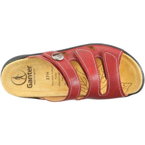 Ganter Hera, Weite H 1-205827-2000 - Zuecos de cuero para mujer Rojo