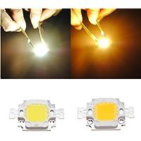 10W 900LM wit/warm-witte LED-lamp helderheid chip DC 9-12V HVTKL (Color : Color Warm White)