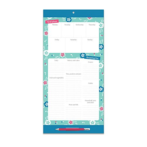 Menu Planner. Magnetic Fridge List with NEW stronger magnets. Grocery Shopping List. Magnetic pad, grocery shopping list and weekly menu planner with clip-on pencil and pocket for receipts & coupons.