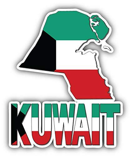 Magnet Kuwait Map Flag Slogan Vinyl Magnet Bumper Sticker Magnet Flexible Vinyl Magnetic 5
