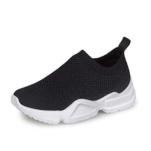 Malla Negro Zapatos elástica ZHZNVX Mujer Round Black Tela Rosa Sneakers Blanco Comfort de Heel Flat Toe de Summer wIYwdZ