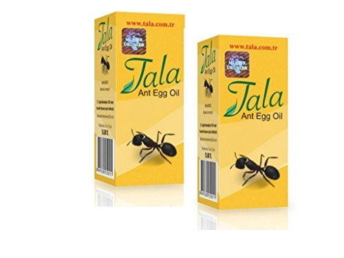 2 Bottle-ANT EGG OILHair Removal Genuine Organic Permanent Reducing Solution,Tala ANT EGG OIL 20ml 0.7oz by Tala