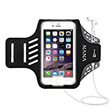 VNVN Water Resistant Sports Armband Arm Case Holder with Fingerprint Touch Compatible for iPhone Xs Max, 8 Plus, 7 Plus, 6 Plus, 6S Plus - Adjustable Reflective Workout Band