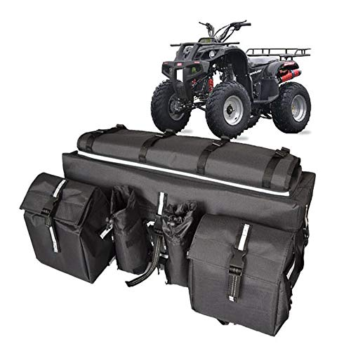 COCO Tec ATV Cargo Bag,Rear Rack Storage Gear Bag with Topside Bungee Tie-Down Storage Padded-Bottom,Waterproof,Heavy Duty