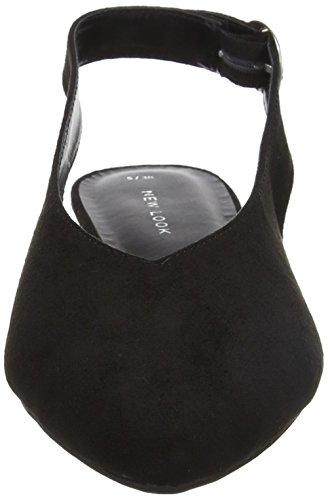 New Look Women's Jonsey Sling Back Heels Black (Black) AddCKa