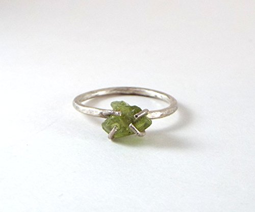 *DISCONTINUED* Raw Peridot SIZE 5 Prong Sterling Silver - Raw Peridot