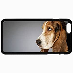Customized Cellphone Case Back Cover For iPhone 6, Protective Hardshell Case Personalized Dogs A Dog With Big Ears 18865 Black