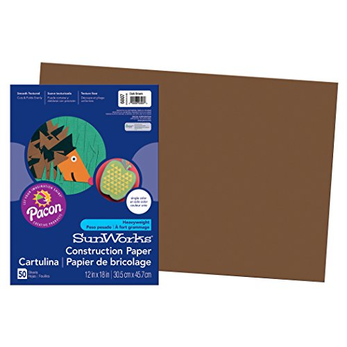 Brown Construction Paper (Pacon SunWorks Construction Paper, 12