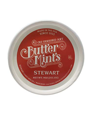 Stewart Candy Company Old Fashioned Soft Butter Mints, 9 oz. Tub