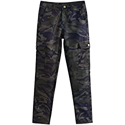 Women's Casual Trouser,Ladies Camouflage Pocket Pencil Pants by-NEWONESUN