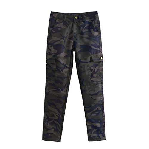 - Women's Casual Trouser,Ladies Camouflage Pocket Pencil Pants by-NEWONESUN
