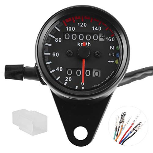 12 V Motorfiets Kilometerteller LED Snelheidsmeter Achtergrondverlichting Richtingaanwijzer Lamp Kit met Connector voor…