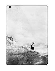 Tough Ipad TrOxxPj2487FEFOW Case Cover/ Case For Ipad Air(black & White)