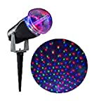 LightShow Projection Multicolor LED StarSpinner Christmas Outdoor Stake Light Projector, RGB