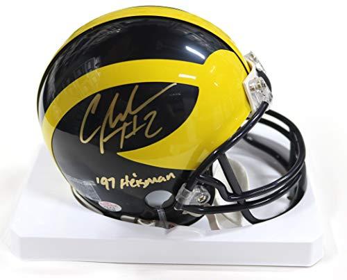 Charles Woodson Michigan Wolverines Signed Autographed Football Mini Helmet PAAS COA