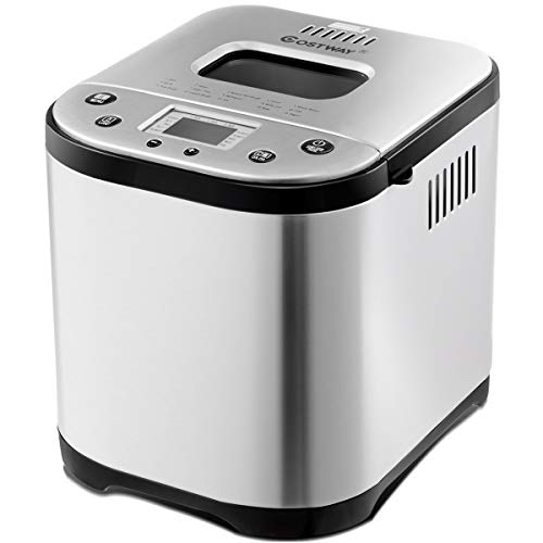 COSTWAY Automatic Bread Maker Stainless Steel Programmable M