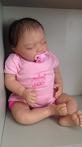 Amazon.es: Reborn Baby Girl Muñeca, Heavy, 20 cm de largo, con pelo ...