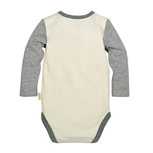 Burt's Bees Baby Baby Organic Long Sleeve Bodysuit and Pant Set, Eggshell Mushrooms, 18 Months