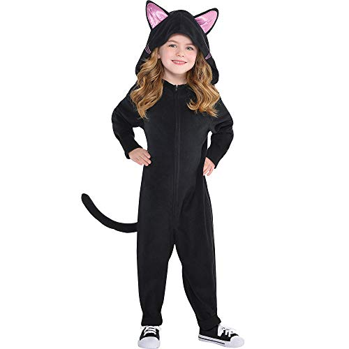 Suit Yourself Zipster Black Cat One-Piece Costume for Toddler Girls, Size 3-4T, Includes a Jumpsuit, a Hood, and a Tail]()