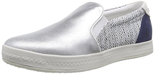 Geox D MODESTY C - Mocasines Mujer Varios Colores - Mehrfarbig (SILVER/LT GREYC0898)