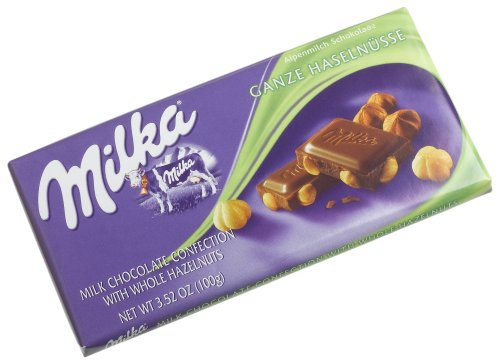 - Milka Milk Chocolate with Whole Hazelnuts, 3.52-Ounce Bars (Pack of 10)