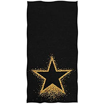 f48429ce0e22 Naanle Chic Shiny Gold Star Pattern Soft Absorbent Large Hand Towels  Multipurpose for Bathroom, Hotel, Gym and Spa (16