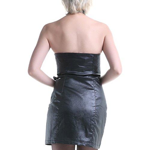 Asymmetrisches Kleid aus Kunstleder