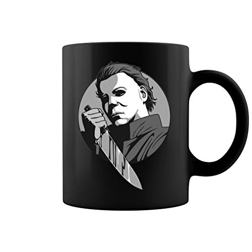 Michael Myers Ceramic Coffee Mug Tea Cup (11oz, Black)]()