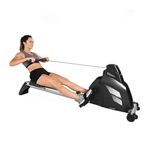 Rowing machine transformation. Velocity Exercise Magnetic Rower, Black