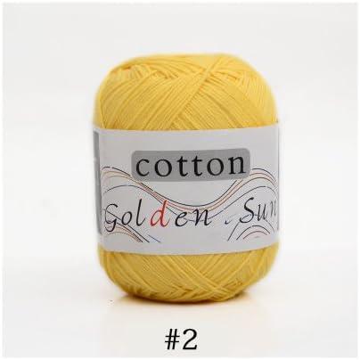 Desconocido Ovillo de Lana Suave para bebé, 100% algodón, para Tejer a Mano, Hilo de algodón de Ganchillo para Manta de suéter Infantil AC007: Amazon.es: Hogar