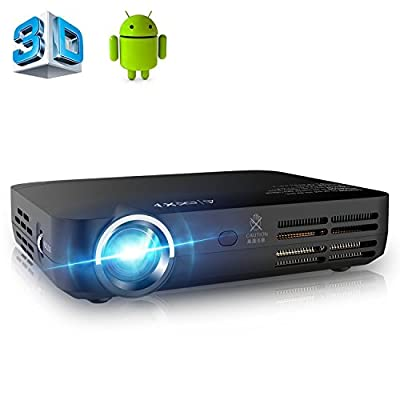 APEMAN Mini Projector DLP Home HD Video Projector 3D Small Home Theater Projector with Android 4.4 OS
